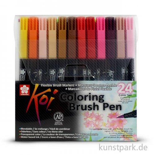 Sakura Koi Coloring Brush Pen Set - 24 verschiedene Farben