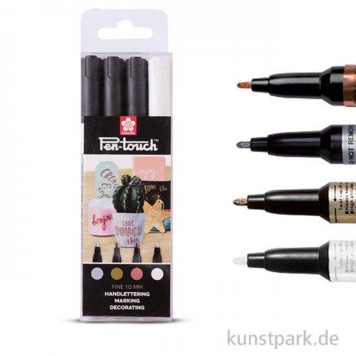 Sakura Pen-Touch fein - 4 verschiedene Farben