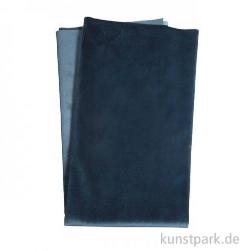 Samtstoff - Mitternachtsblau, 65 x 70 cm