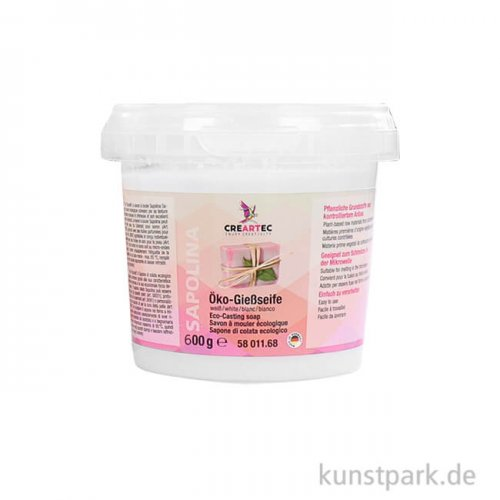 Sapolina - Öko-Seife zum Gießen, weiß 600 g