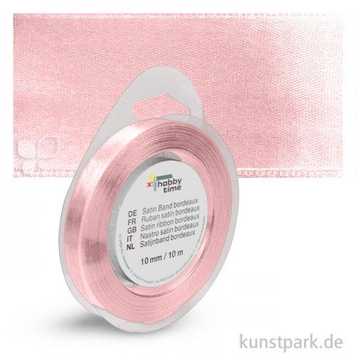 Satinband - 10 mm Breite - 10 m Länge Einzelfarbe | Rosa
