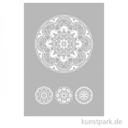 Schablone Art of Mandala DIN A5, inklusive Rakel