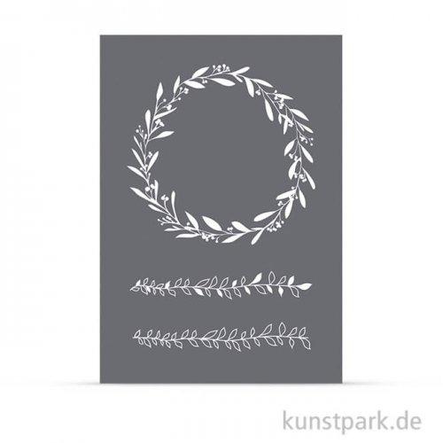 Schablone - Blätterranken, mit Rakel