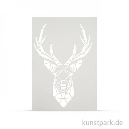 Schablone DIN A4 - Hirschkopf Trophäe