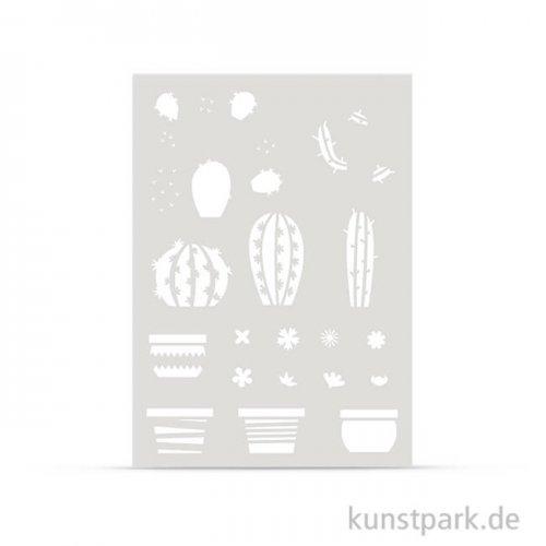 Schablone DIN A4 - Kakteen Teile