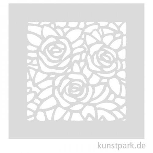 Schablone - Drei Rosen, Größe 110x110 mm