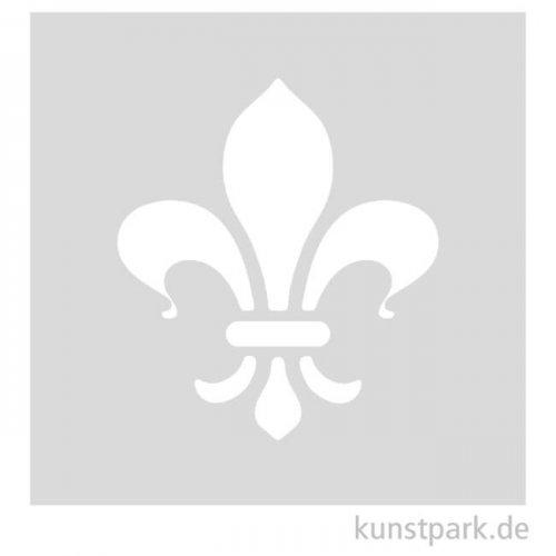 Schablone - Fleur de lis, Größe 98x110 mm
