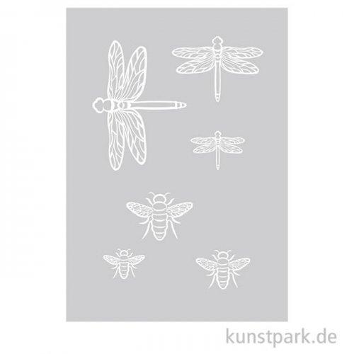 Schablone - Insekten, DIN A5 mit Rakel