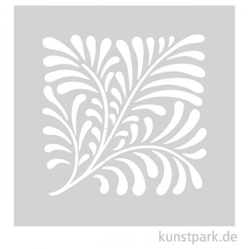 Schablone - Jugendstil Farn, Größe 110x110 mm