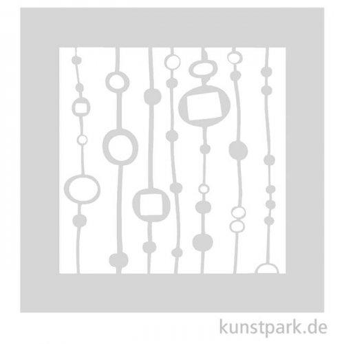 Schablone - Perlenvorhang, Größe 110x110 mm