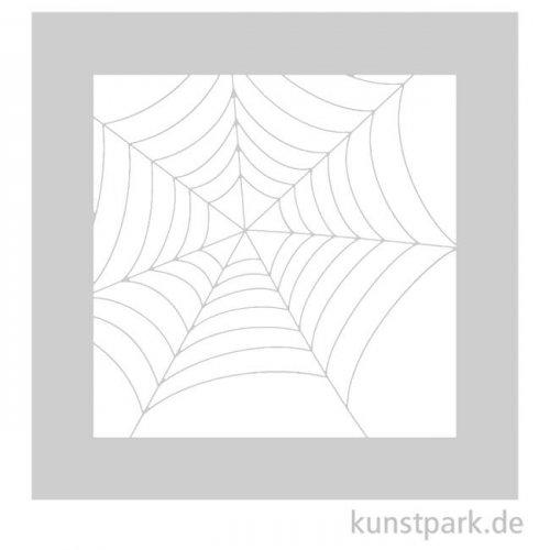 Schablone - Spinnennetz, Größe 110x110 mm