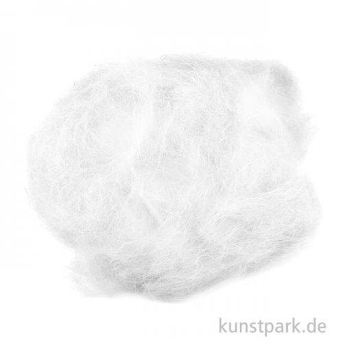 Schafwolle zum Trockenfilzen, 30 g Einzelfarbe | Weiß