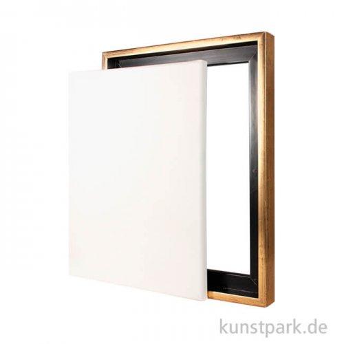 Schattenfugenrahmen mit Keilrahmen - Gold 40 x 50 cm