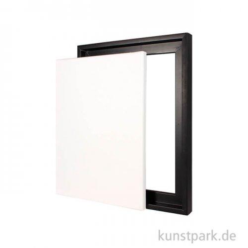 Schattenfugenrahmen mit Keilrahmen - Schwarz 30 x 40 cm