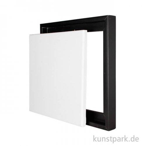Schattenfugenrahmen mit Keilrahmen - Schwarz 40 x 40 cm
