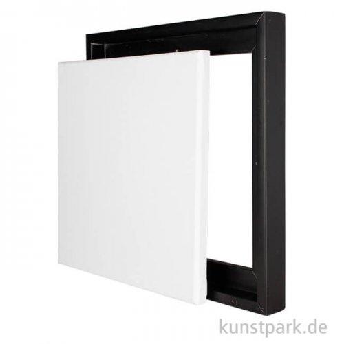 Schattenfugenrahmen mit Keilrahmen - Schwarz 50 x 50 cm