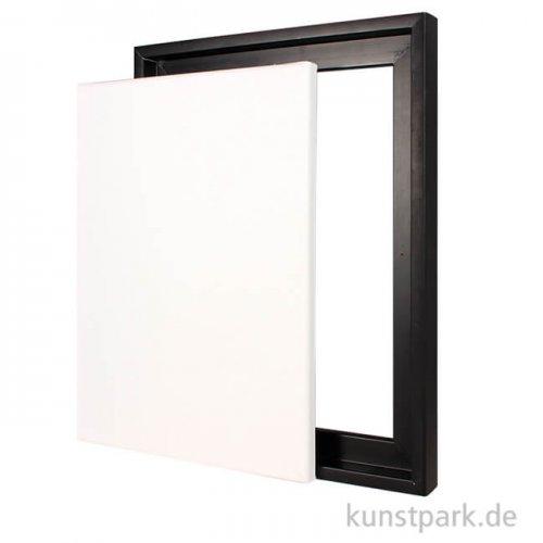 Schattenfugenrahmen mit Keilrahmen - Schwarz 50 x 70 cm