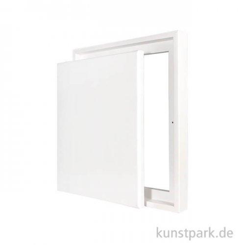 Schattenfugenrahmen mit Keilrahmen - Weiß 30 x 40 cm