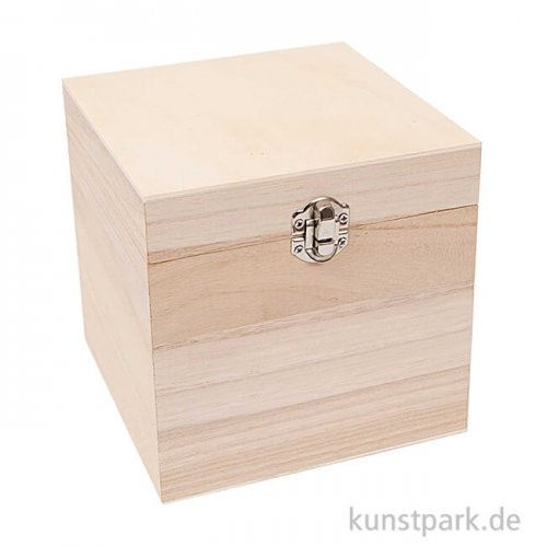 Schatulle aus Holz - Quadratisch, Groß