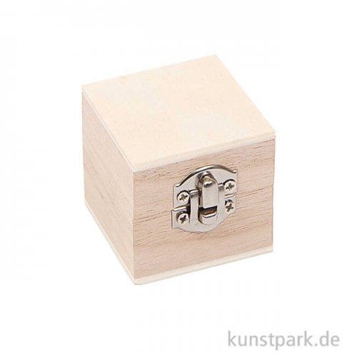 Schatulle aus Holz - Quadratisch, Klein
