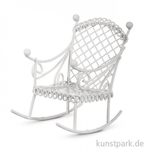 Mini Schaukelstuhl - Elfenbein, 5,3x8x7 cm, 1 Stück