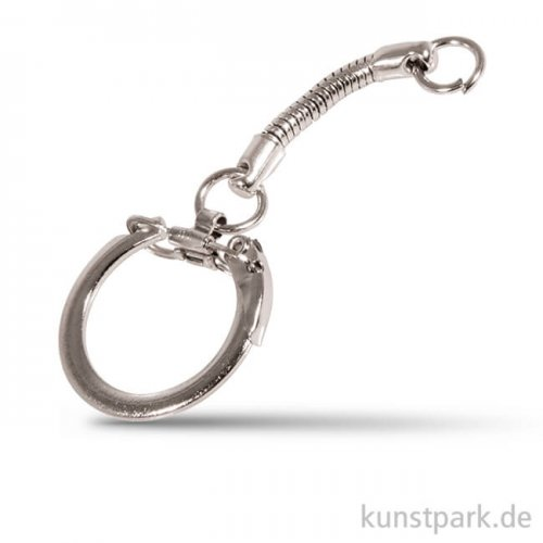 Schlüsselanhänger - Platin, 24mm, 2 Stück