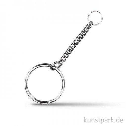 Schlüsselring mit Gliederkette, 25mm, 4 Stück