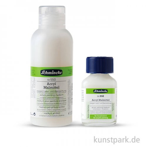 Schmincke Acryl Malmittel Lasur und Glanz