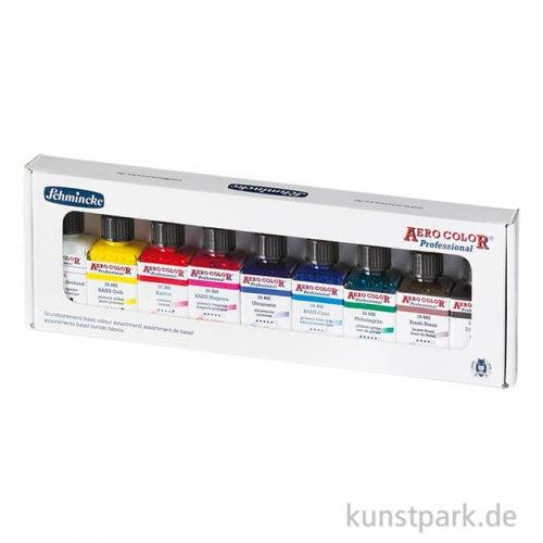 Schmincke AEROCOLOR - 9 x 28 ml Basisfarben im Karton-Set