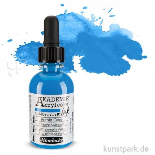 Schmincke AKADEMIE Acryl color Ink 50ml | Primär Cyan