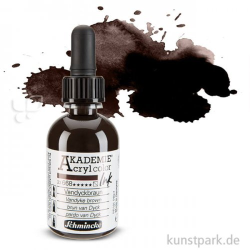 Schmincke AKADEMIE Acryl color Ink 50 ml Einzelfarbe | Vandyckbraun