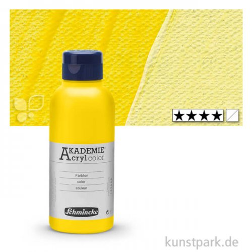 Schmincke AKADEMIE Acrylfarben 250 ml Flasche | 222 Zitronengelb