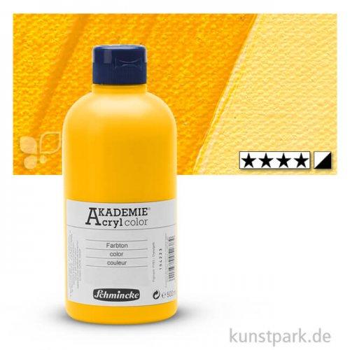 Schmincke AKADEMIE Acrylfarben 500 ml Flasche   225 Chromgelbton