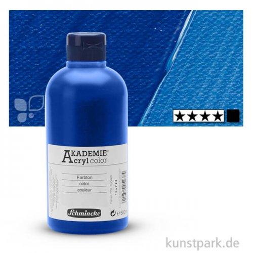 Schmincke AKADEMIE Acrylfarben 500 ml Flasche   443 Kobaltblauton dkl