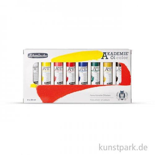 Schmincke AKADEMIE Öl - Basis-Set 8 x 20 ml im Karton