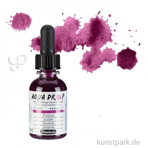 Schmincke AQUA Drop - flüssige Aquarellfarbe, 30 ml Einzelfarbe   Purpur