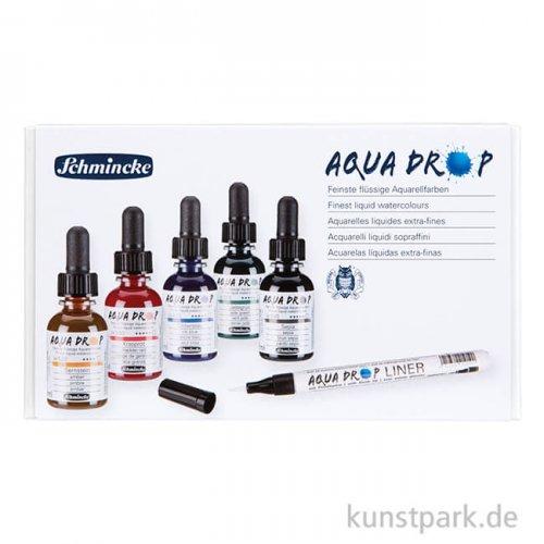 Schmincke AQUA Drop Set, 5 x 30 ml + Liner