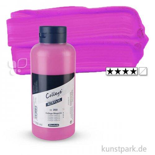 Schmincke COLLEGE Acrylfarben 750 ml Flasche | 350 College Magenta
