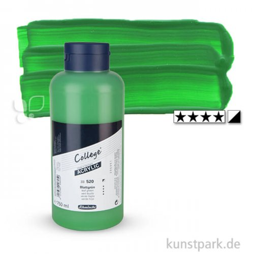 Schmincke COLLEGE Acrylfarben 750 ml Flasche | 520 Blattgrün