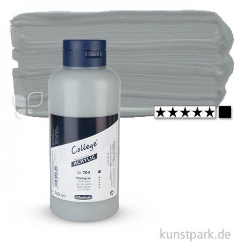Schmincke COLLEGE Acrylfarben 750 ml Flasche | 700 Steingrau