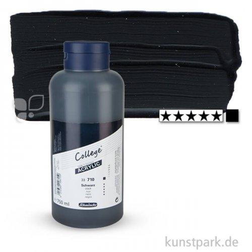 Schmincke COLLEGE Acrylfarben 750 ml Flasche   710 Schwarz