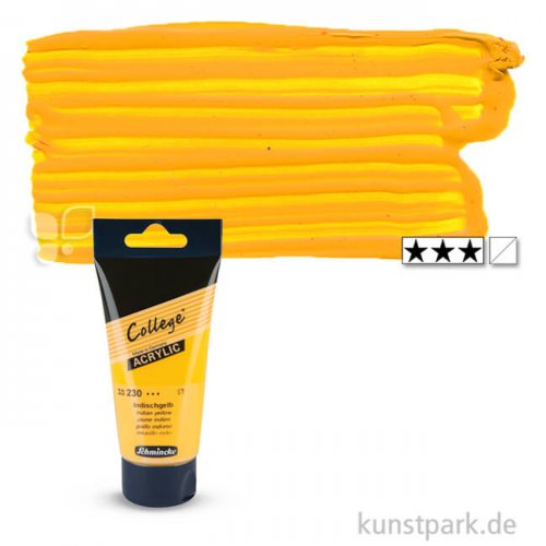 Schmincke COLLEGE Acrylfarben 75 ml Tube   230 Indischgelb