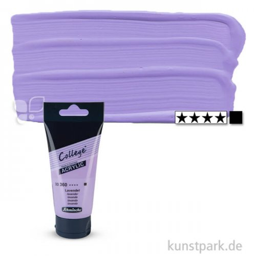 Schmincke COLLEGE Acrylfarben 75 ml Tube | 360 Lavendel