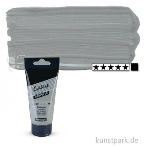 Schmincke COLLEGE Acrylfarben 75 ml Tube   700 Steingrau