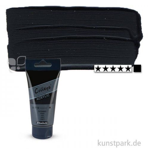 Schmincke COLLEGE Acrylfarben 75 ml Tube | 710 Schwarz