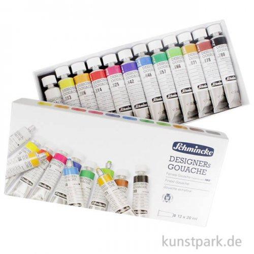 Schmincke Designers Gouache, 12 x 20 ml Set