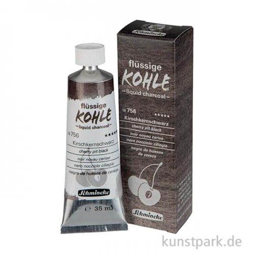 Schmincke Flüssige Kohle Kirschkernschwarz 35 ml