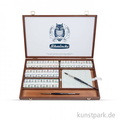 Schmincke HORADAM - Aquarell Holzkasten, 48 x 1/1 Näpfchen