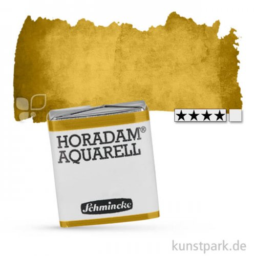 Schmincke HORADAM Aquarellfarben 1/2 Napf   537 Lasurgoldgrün
