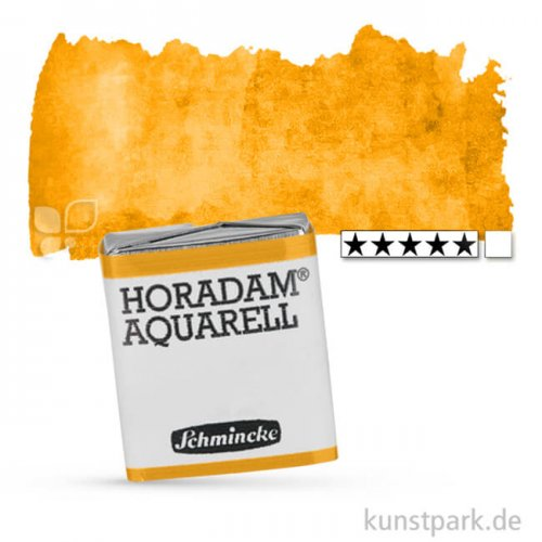 Schmincke HORADAM Aquarellfarben 1/2 Napf | 657 Lasur Ocker